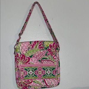 Like New Pinwheel Pink Vera Bradley Messenger Bag